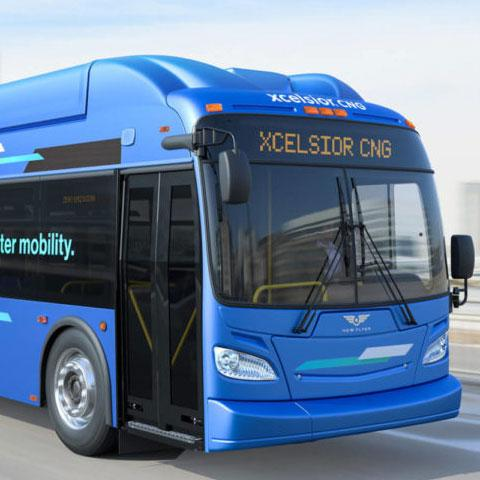 New Flyer Xcelsior CNG transit bus increases sustainable transportation across North America